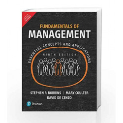 Fundamentals of Management 9ed by Robbins Book-9789332574120