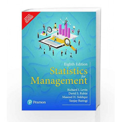 Statistics for Management by I. Levin Richard Book-9789332581180
