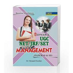UGC-NET/JRF/SET Management  - Paper II & III: Paper 2 and 3 by Vidyapati Parashar Book-9789350135198