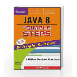 Java 8 in Simple Steps by D.T. Editorial Services Book-9789351198468