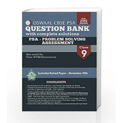Oswaal CBSE PSA Question Banks With Complete Solution For Class 9 & 10 (Problem Solving Assessment) by MAUZY Book-9789351274704