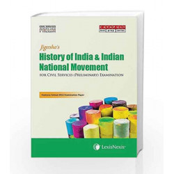 History Of India & Indian National Movement  (Civil Services (Preliminary) Examinations) by Jigeesha Book-9789351436157