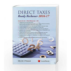 Direct Taxes Ready Reckoner 2016-17 by M.S. Vasan Book-9789351439387