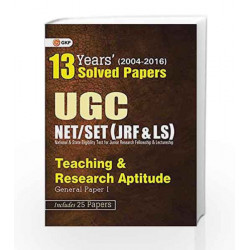 13 Years Solved Papers UGC NET/SET Teaching & Research Aptitude General (Papers I) 2017 by GKP Book-9789351440420