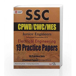 SSC (CPWD/CWC/MES) Electrical Engineering (Junior Engineers) 19 Practice Papers 2016 by GKP Book-9789351448600