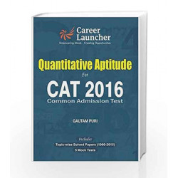 CAT Quantitative Aptitude 2016 by Gautam Puri Book-9789351449201