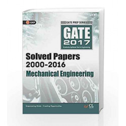 GATE Paper Mechanical Engineering 2017 (Solved papers 2000-2016) by GKP Book-9789351449263