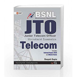 BSNL J.T.O (Telecom) Includes Solved Paper 2014 & 3 Mock Tests by GKP Book-9789351449904