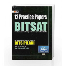 BITSAT 12 Practice Papers Paperback by GKP Book-9789351450214