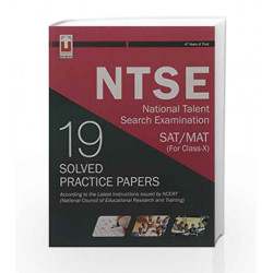 NTSE National Talent Search Examination SAT/MAT (For Class-X) 19 Solved Practice Papers by N/a Book-9789351873082