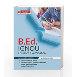 B. Ed IGNOU ENTRANCE EXAMINATION by J K CHOPRA Book-9789351876007