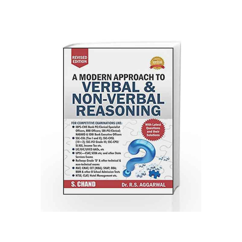 A Modern Approach To Verbal Non Verbal Reasoning R S Aggarwal