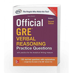 Official GRE  Verbal Reasoning Practice Questions by ETS Book-9789352607358