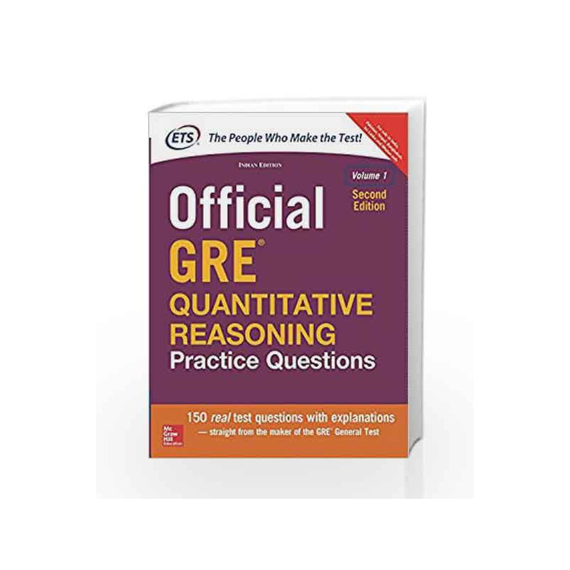 Official GRE Quantitative Reasoning Practice Questions by ETS-Buy Online  Official GRE Quantitative Reasoning Practice Questions Book at Best Price  in