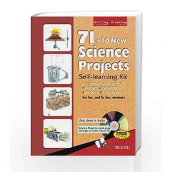 71+10 New Science Projects: Self Learning Kit (With CD) by C.L.Garg Book-9789381384053
