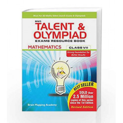 BMA\'s Talent & Olympiad Exams Resource Book for Class - 7 (Maths) by Brain Mapping Academy Book-9789382058519