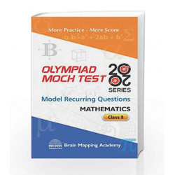 BMA\'s Olympiad Mock Test 20-20 Series - Mathematics for Class - 8 by Brain Mapping Academy Book-9789382058823
