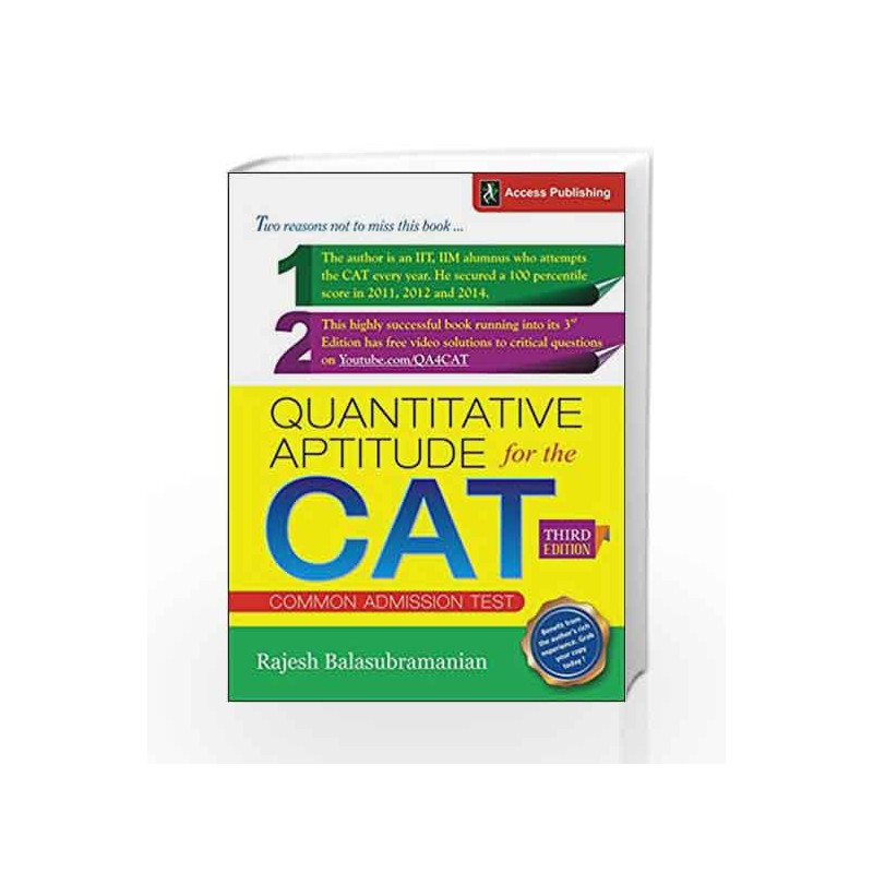 Quantitative Aptitude for the CAT by Rajesh Balasubramanian-Buy Online  Quantitative Aptitude for the CAT Book at Best Price in  India:Madrasshoppe com
