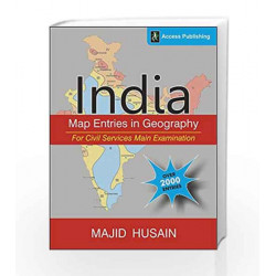 India: Map Entries in Geography for Civil Services Main Examination by BIBLE STORIES Book-9789383454822
