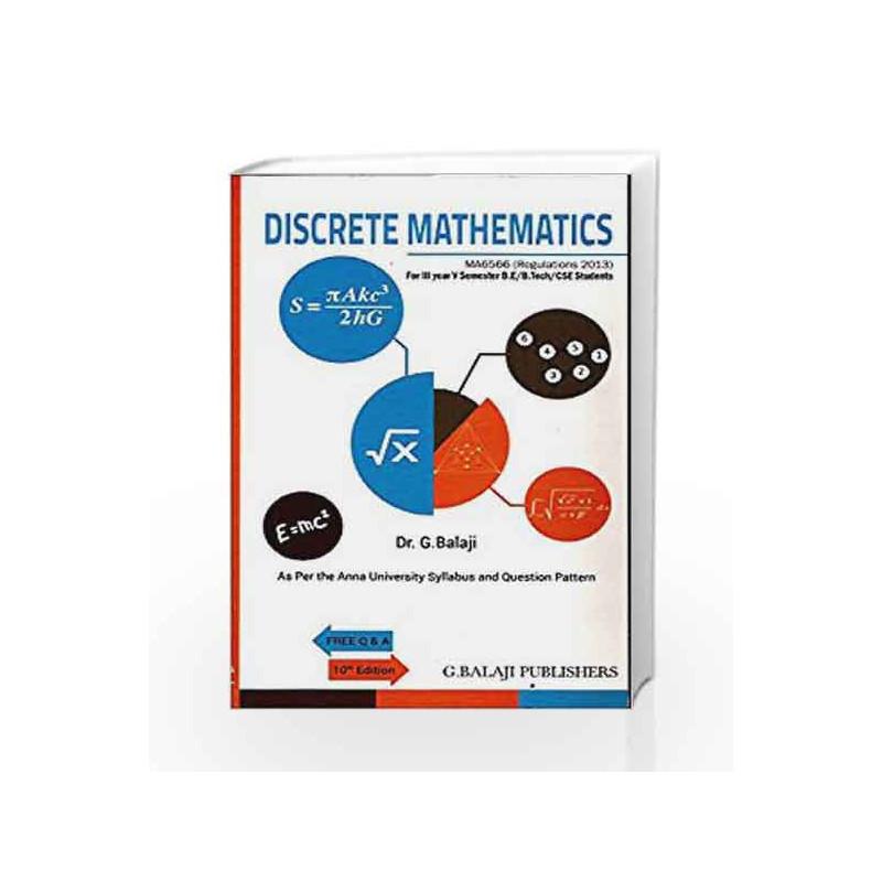 Discrete Mathematics by Dr G Balaji-Buy Online Discrete Mathematics Book at  Best Price in India:Madrasshoppe com