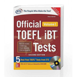 Official TOEFL ibT - Vol. 1 (With DVD) by ETS Book-9789385880193