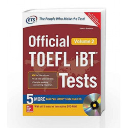 Official Toefl IBT Tests - Vol. 2 (With Dvd) by ETS Book-9789385880209