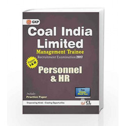 Coal India Limited Management Trainee Personnel & HR 2017 by GKP Book-9789386309402