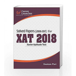 XAT (Solved Papers 2008-2017) 2018 by GKP Book-9789386309617