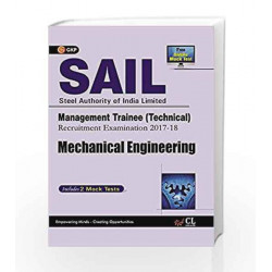 SAIL Mechanical Engineering Management Trainee (Technical) 2017-18 by GKP Book-9789386860132