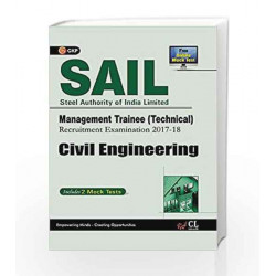 SAIL Civil Engineering Management Trainee (Technical) 2017-18 by GKP Book-9789386860149