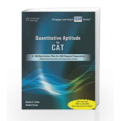 Quantitative Aptitude for CAT : A 100   Day Action Plan for 360 Degree Preparation by Sinha Book 9788131524923