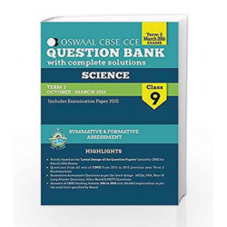 Oswaal CBSE CCE Question Banks With Complete Solution For Class 9 Term II (October To March 2016) Science by OSWAAL