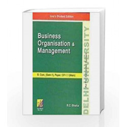 Business Organisation and Management by R. C. Bhatia Book-9789381162200