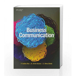 Business Communication by P. Subba Rao Book-9788131516744