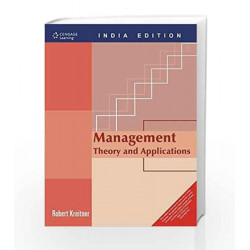 Management: Theory and Applications by Robert Kreitner Book-9788131511244