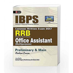 IBPS RRB-CWE  Office Assistant (Multipurpose) Preliminary & Main Guide 2017 by GKP Book-9789386601926
