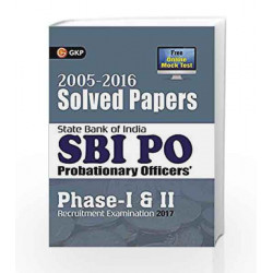 SBI PO 2017 Solved Papers (2005-2016) by GKP Book-9789386309921