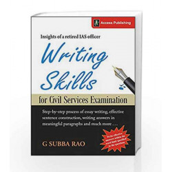 Writing Skills for Civil Services Examination by G Subba Rao Book-9789383454259