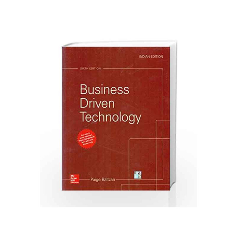 Business Driven Technology by BALTZAN Book-9789352605507