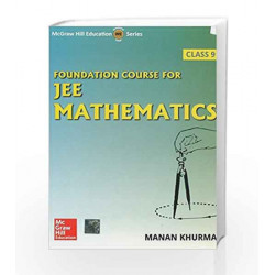 Foundation Course for JEE Mathematics by Manan Khurma Book-9789339218577
