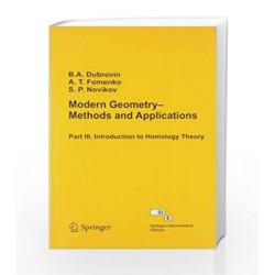 Modern Geometry Methods - Vol III by Dubrovin Book-9788184896602