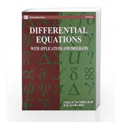 Differential Equations with Applications by Balachandra Rao Book-9788173710230