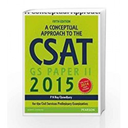A Conceptual Approach to the CSAT Paper II, 2015, 5e by PN RoyChowdhury Book-9789332543102