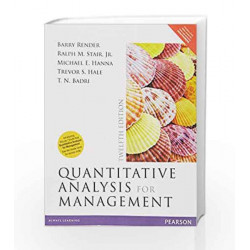 Quantitative Analysis for Management 12E by Render/Badri Book-9789332568853