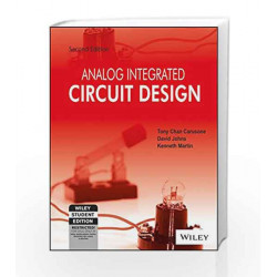 Analog Integrated Circuit Design, 2ed, ISV by David Johns, Kenneth Martin Chan Carusone Book-9788126543939