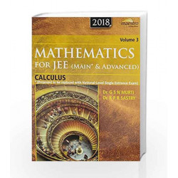 Wiley's Mathematics for JEE (Main & Advanced): Calculus, Vol 3, 2018 by G S N Murti Book-9788126567188