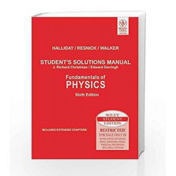 Fundamentals of Physics, Student's Solutions Manual by Halliday Book-9788126513970