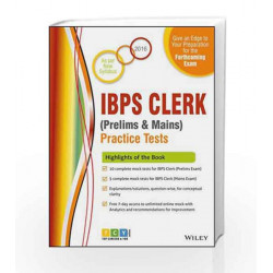Wiley's IBPS Clerk (Prelims & Mains) Practice Tests by TCY Online Book-9788126563654