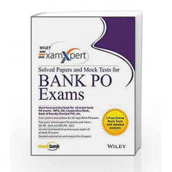 Wiley's ExamXpert Solved Papers and Mock Tests for Bank PO Exams by Wiley India Book-9788126565672
