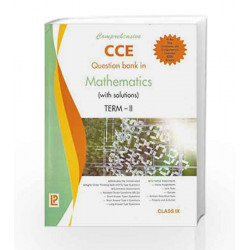 Comprehensive CCE Question Bank in Mathematics (with solutions) Term-II IX by J. B. Dixit Book-9788131809020